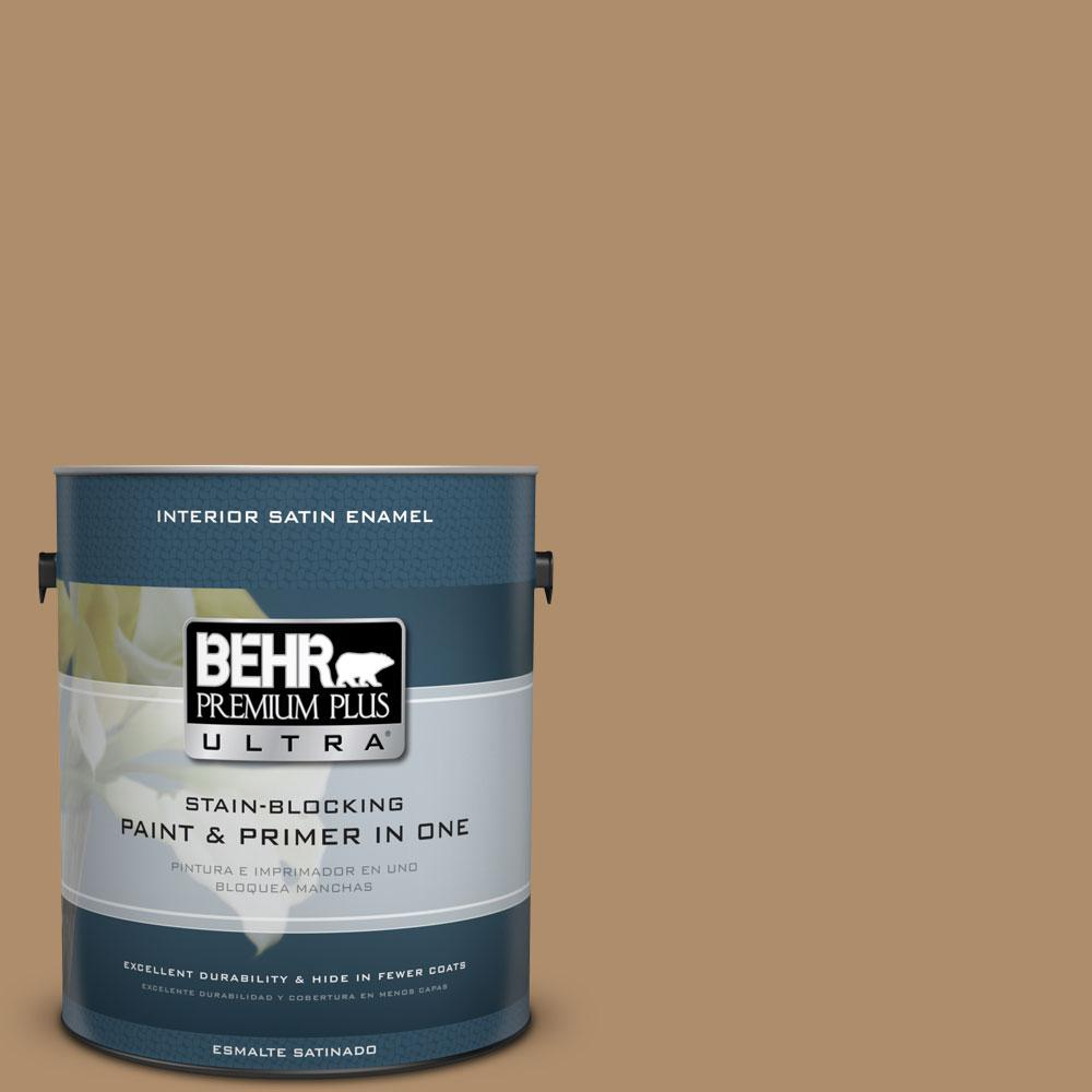 BEHR Premium Plus Ultra 1-gal. #N270-5 River Road Satin Enamel Interior Paint