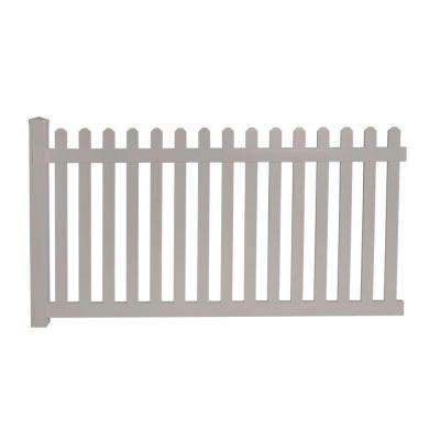 Cheyenne 4 ft. H x 8 ft. W Tan Vinyl Picket Fence Panel EZ Pack