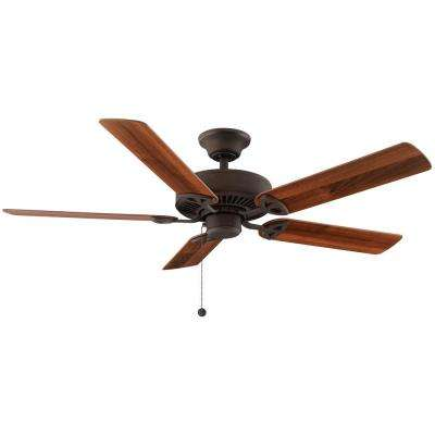 Farmington 52 in. Indoor Oil Rubbed Bronze Ceiling Fan