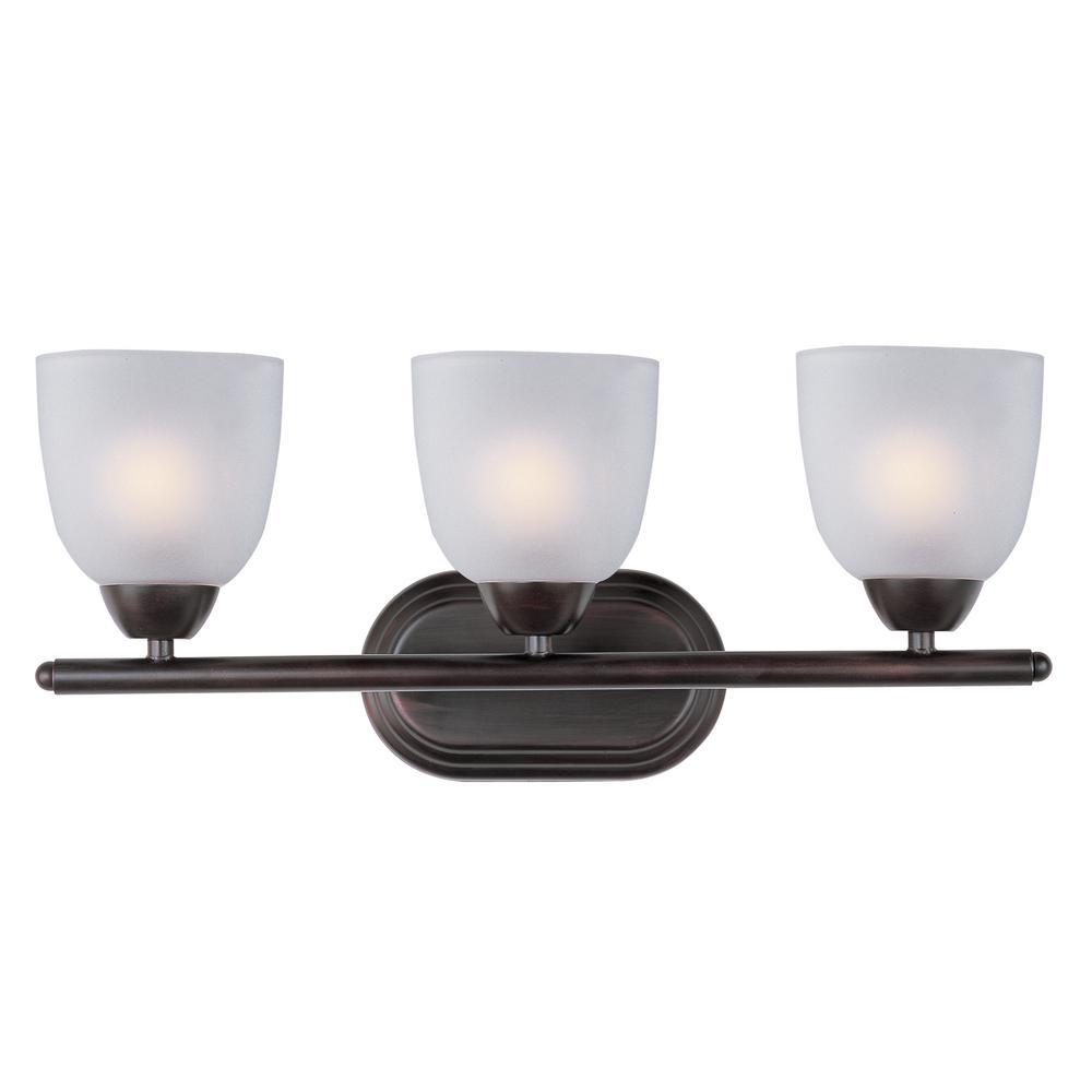 Axis 3-Light Bath Oil Rubbed Bronze Vanity Bath Light