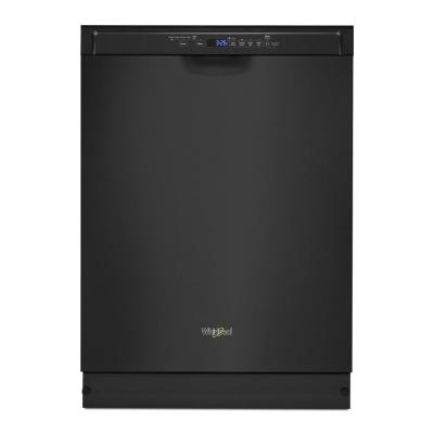 24 in. Front Control Built-In Tall Tub Dishwasher in Black with a Third Level Rack