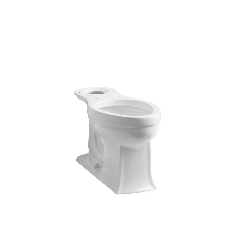 Archer Comfort Height Elongated Toilet Bowl Only in White