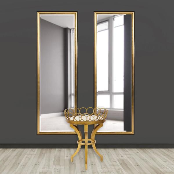 Unbranded Cagney Gold Mirror Wall Decal Tall 60015 The Home Depot