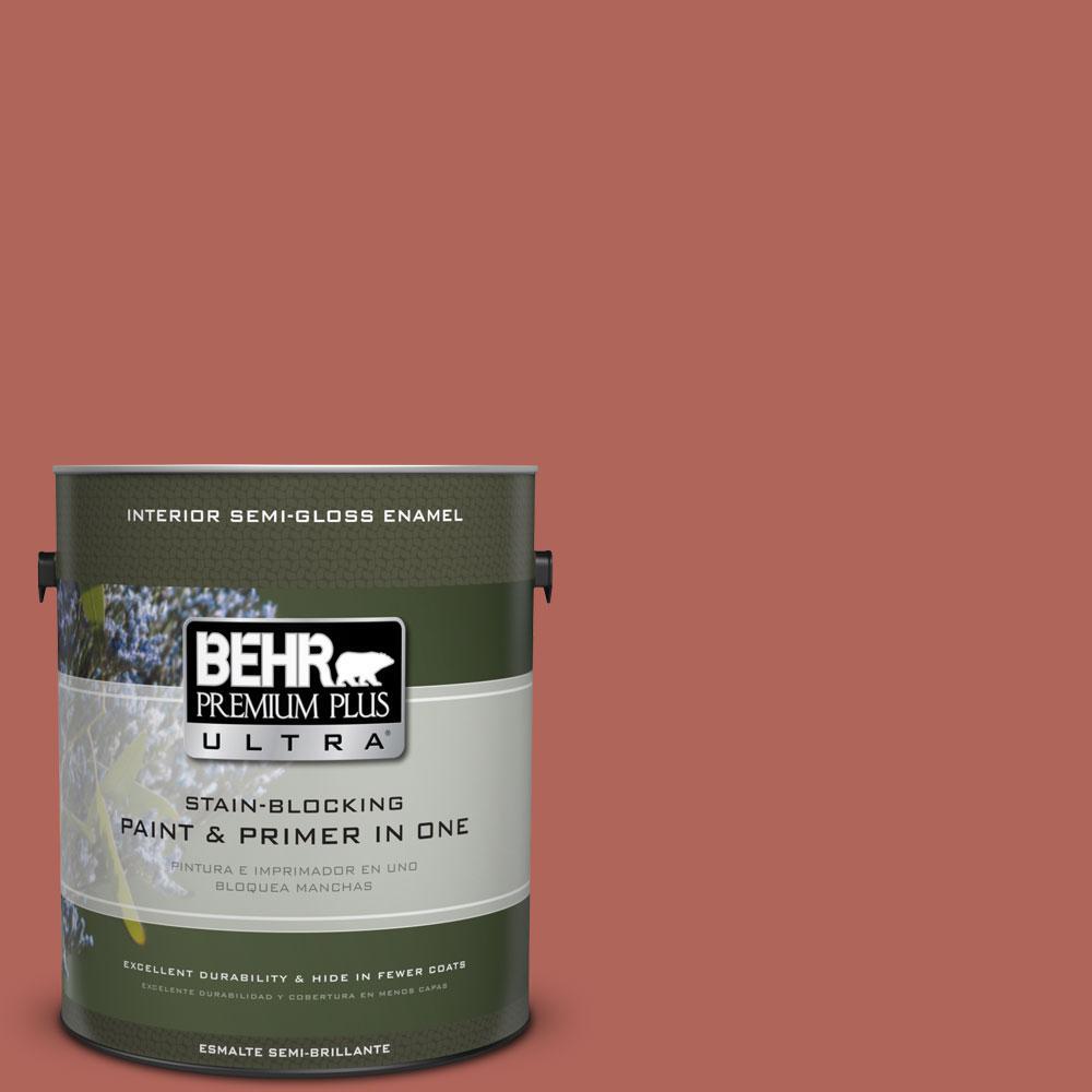 1 gal. #HDC-WR15-7 Preserved Petals Semi-Gloss Enamel Interior Paint