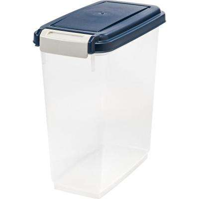 11 Qt. Airtight Pet Food Storage Bin in Navy Blue
