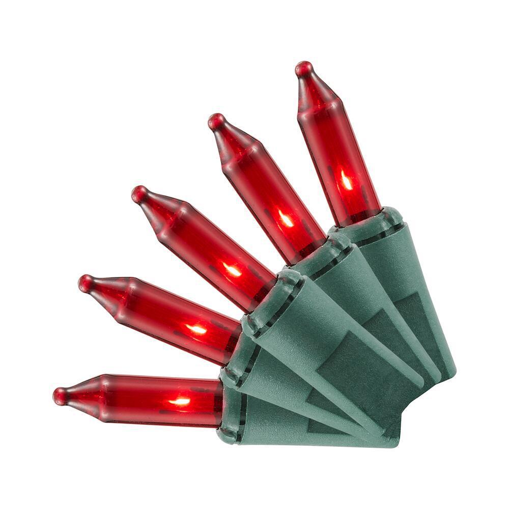 100-Light Red Mini Incandescent Light Set