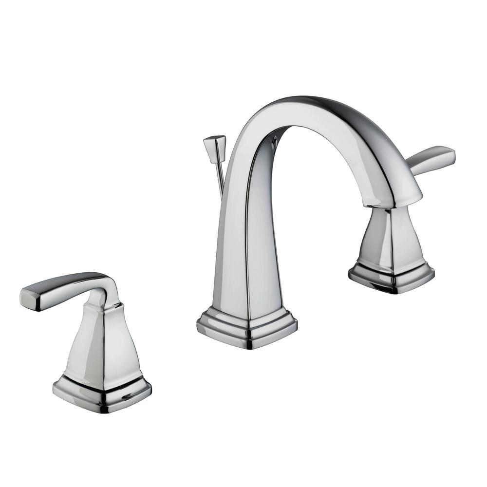 Mason 8 in. Widespread 2-Handle High-Arc Bathroom Faucet in Chrome