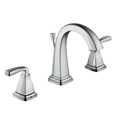 Mason 8 In. Widespread 2 Handle High Arc Bathroom Faucet In Chrome