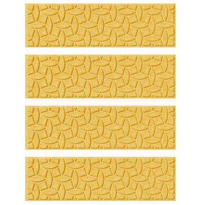 Yellow 8.5 in. x 30 in. Ellipse Stair Tread Cover (Set of 4)