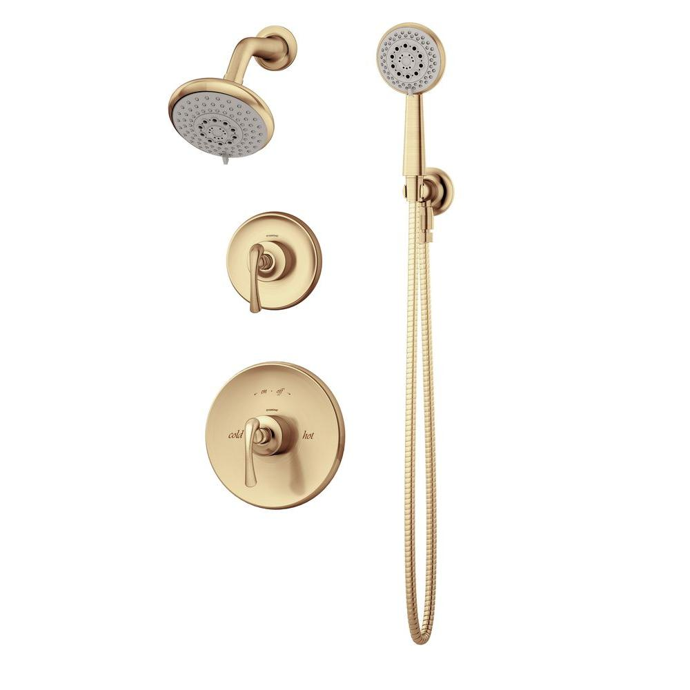 Symmons Ballina 3-Spray Hand Shower and Shower Head Combo Kit in Brushed Bronze