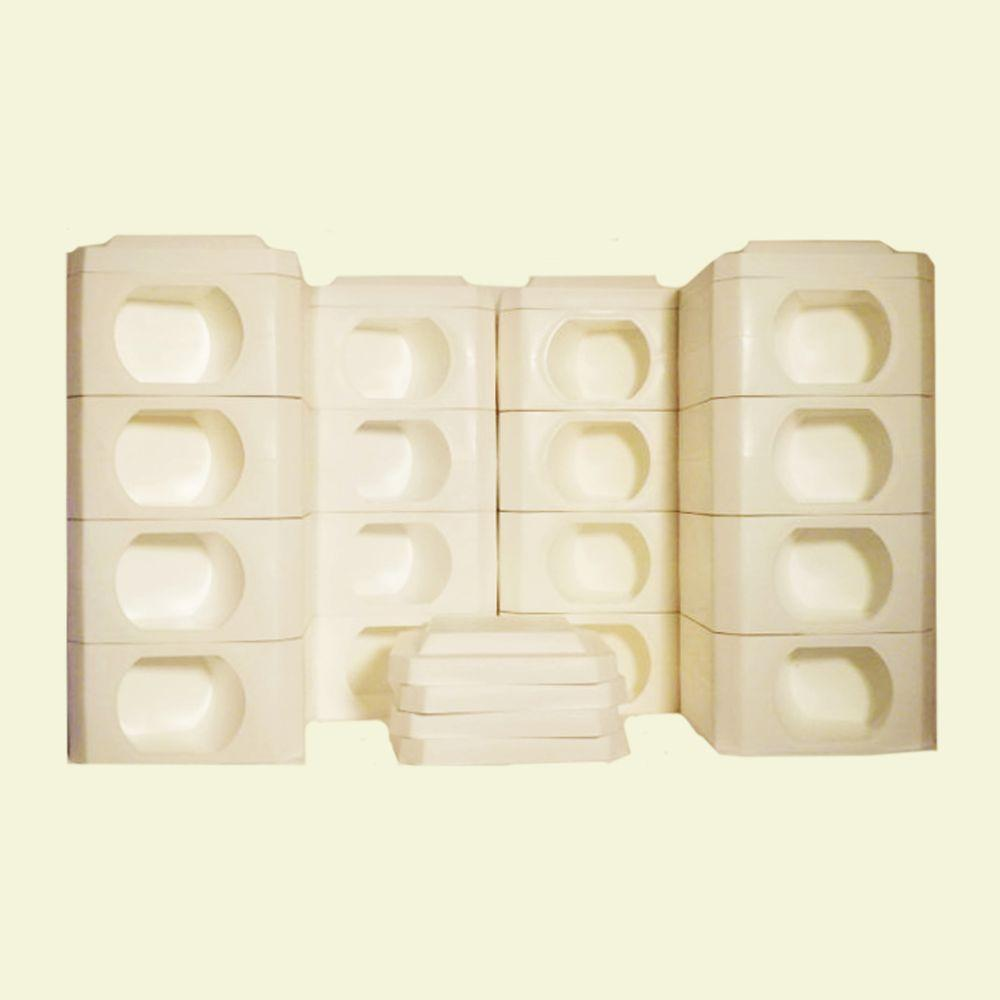 Border Blocks 8 Point Octagon 2 Landscaping Timber High White Blocks And  Covers (24 Peices