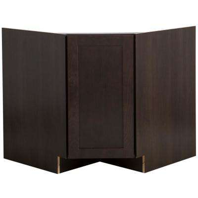 Cambridge Ready to Assemble 36x34.5x24.6 in. Corner Sink Base Cabinet in Dusk