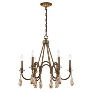 Deals on Home Decorators Collection 6-Light Bronze Chandelier w/Drops