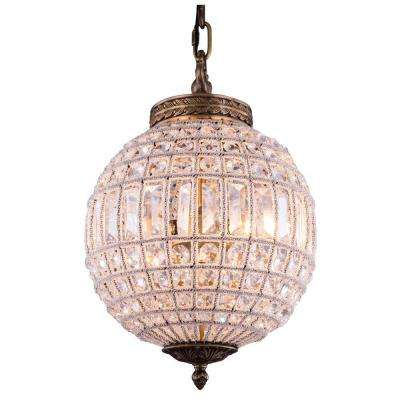 Olivia 1-Light French Gold Chandelier with Clear Crystal