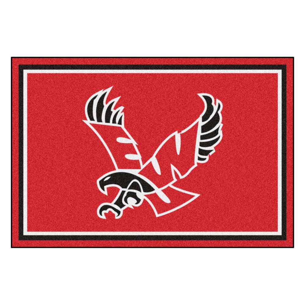 FANMATS NCAA - Eastern Washington University Red 8 ft. x 5 ft. Indoor Area Rug