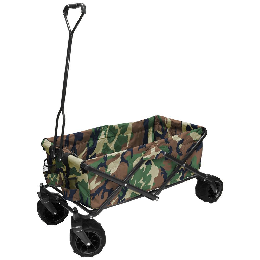 Click here to buy Creative Outdoor 7 cu. ft. Folding Garden Wagon Carts in Camo by Creative Outdoor.