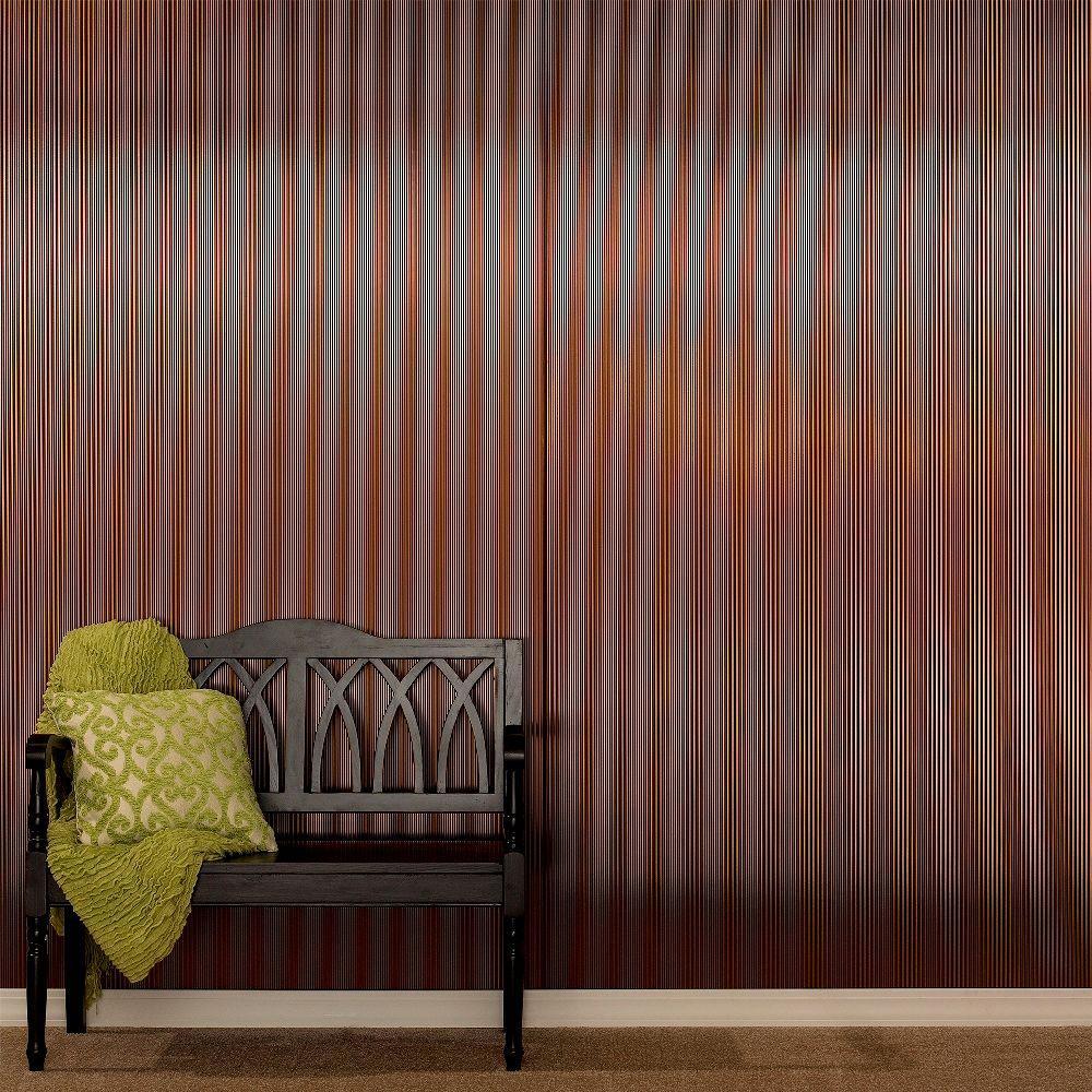 Rib 96 in. x 48 in. Decorative Wall Panel in Brushed Nickel