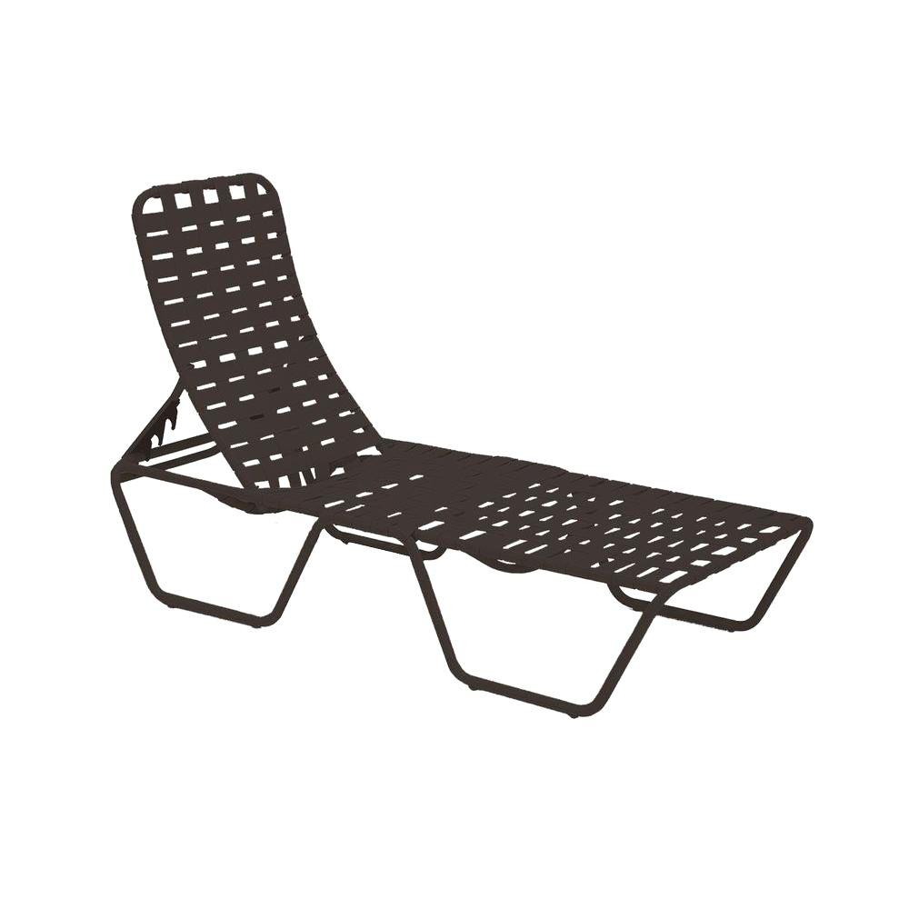 Tradewinds lido crossweave contract black patio chaise for Black outdoor chaise lounge