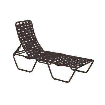 Lido Crossweave Contract Black Patio Chaise Lounge