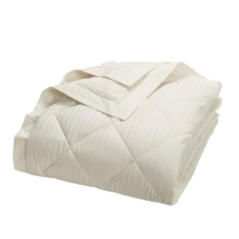 Legends Damask Stripe PrimaLoft Down Alternative Ivory Twin Blanket