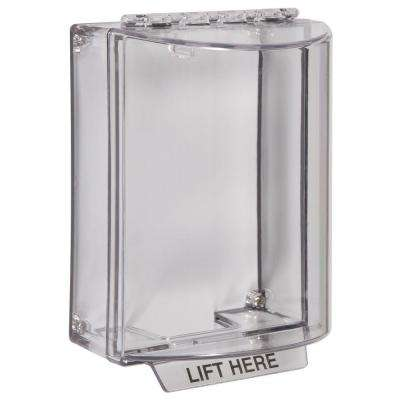 1-1/4 in. Universal Stopper without Horn Housing and Surface Mount - Clear