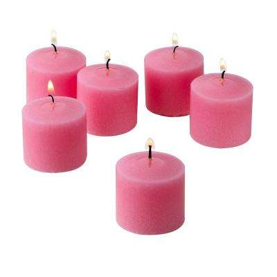 10 Hour Pink Rose Garden Scented Votive Candles (Set of 12)