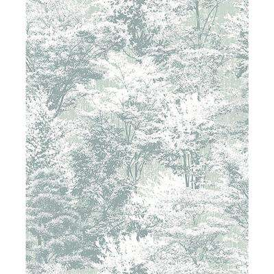 8 in. x 10 in. Camphor Teal Trees Sample