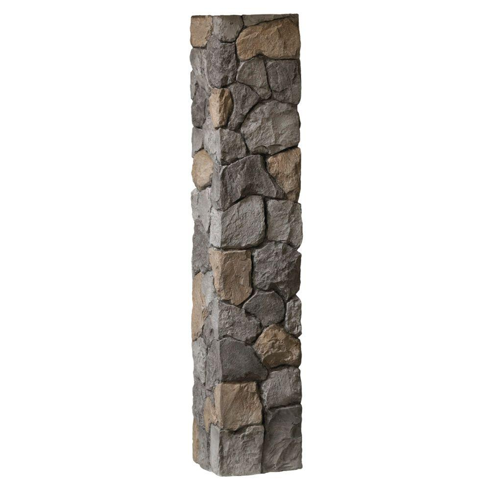 DeckoRail 8-1/4 in. x 8-1/4 in. x 4-1/2 ft. Gray Composite Fieldstone Fence Postcover
