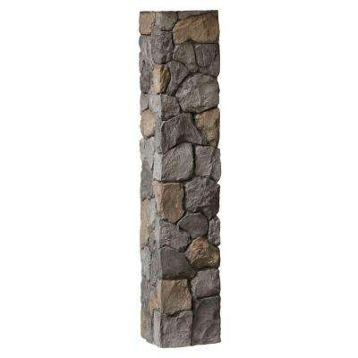 8-1/4 in. x 8-1/4 in. x 4-1/2 ft. Gray Composite Fieldstone Fence Postcover