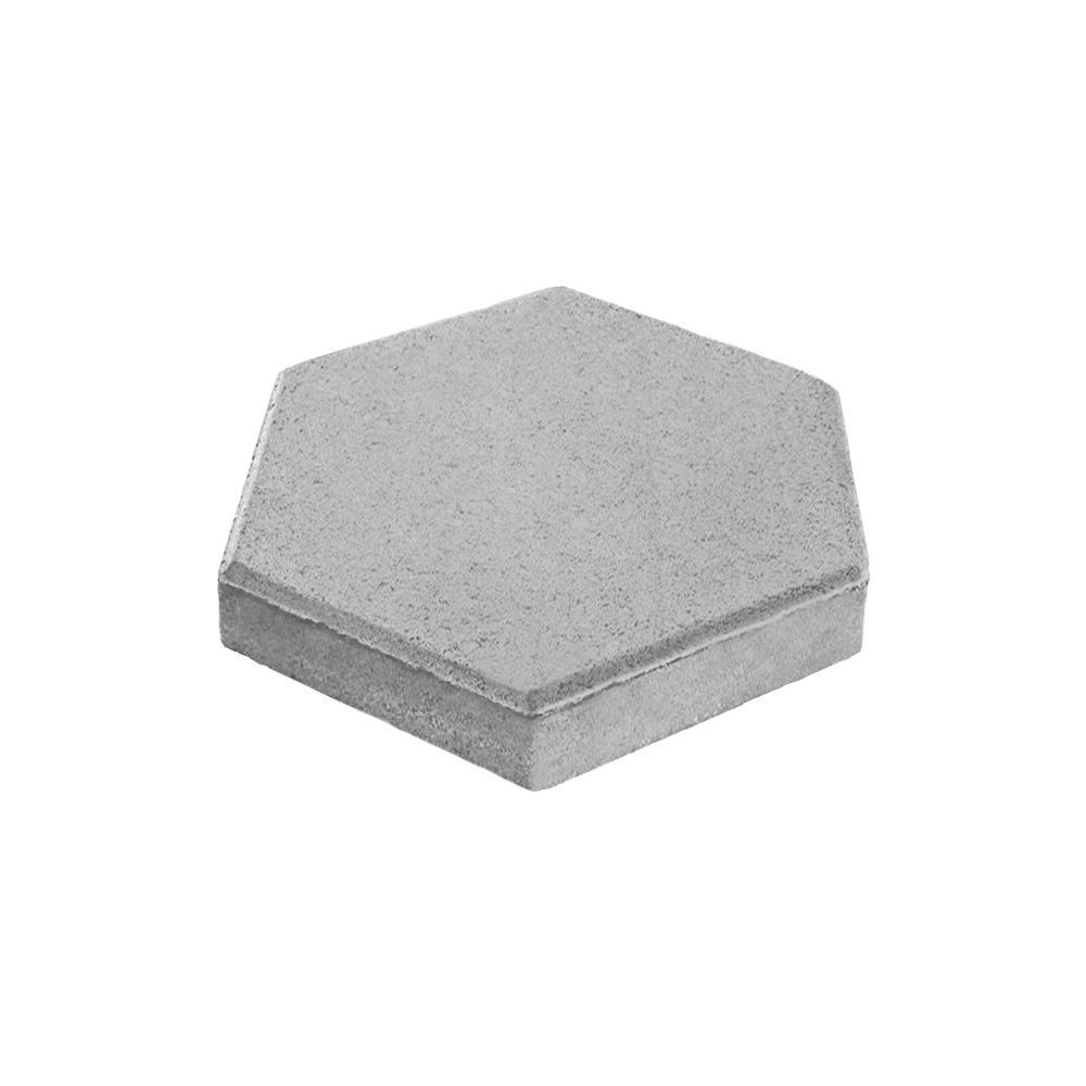 Tileco 12 In X 12 In Hexagon Concrete Patio Block Step Stone Pbh The Home Depot