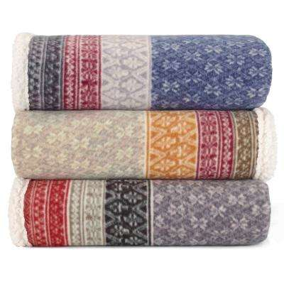 Fair Isle Steel 50 in. x 70 in. Throw