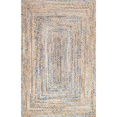 Eliz Jute Blue 8 ft. x 10 ft. Area Rug