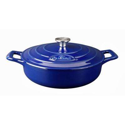 PRO Saute 3.75 Qt. Cast Iron Casserole with Enamel in High Gloss Sapphire