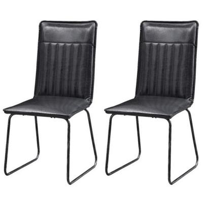 Modern Black Accent Chairs (Set of 2)