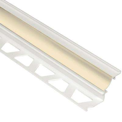 Dilex-PHK Sand Pebble 3/8 in. x 8 ft. 2-1/2 in. PVC Cove-Shaped Tile Edging Trim