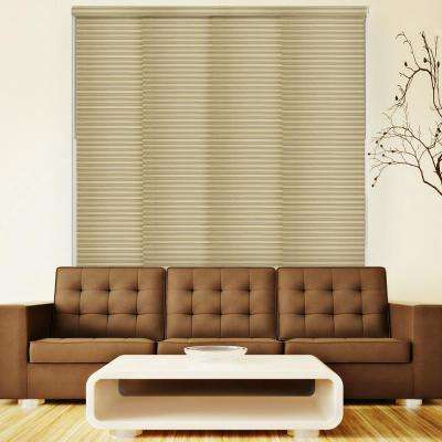 Deluxe Adjustable Sliding Panel / Cut to Length, Curtain Drape Vertical Blind, Light Filtering, Privacy - Tahini Taupe