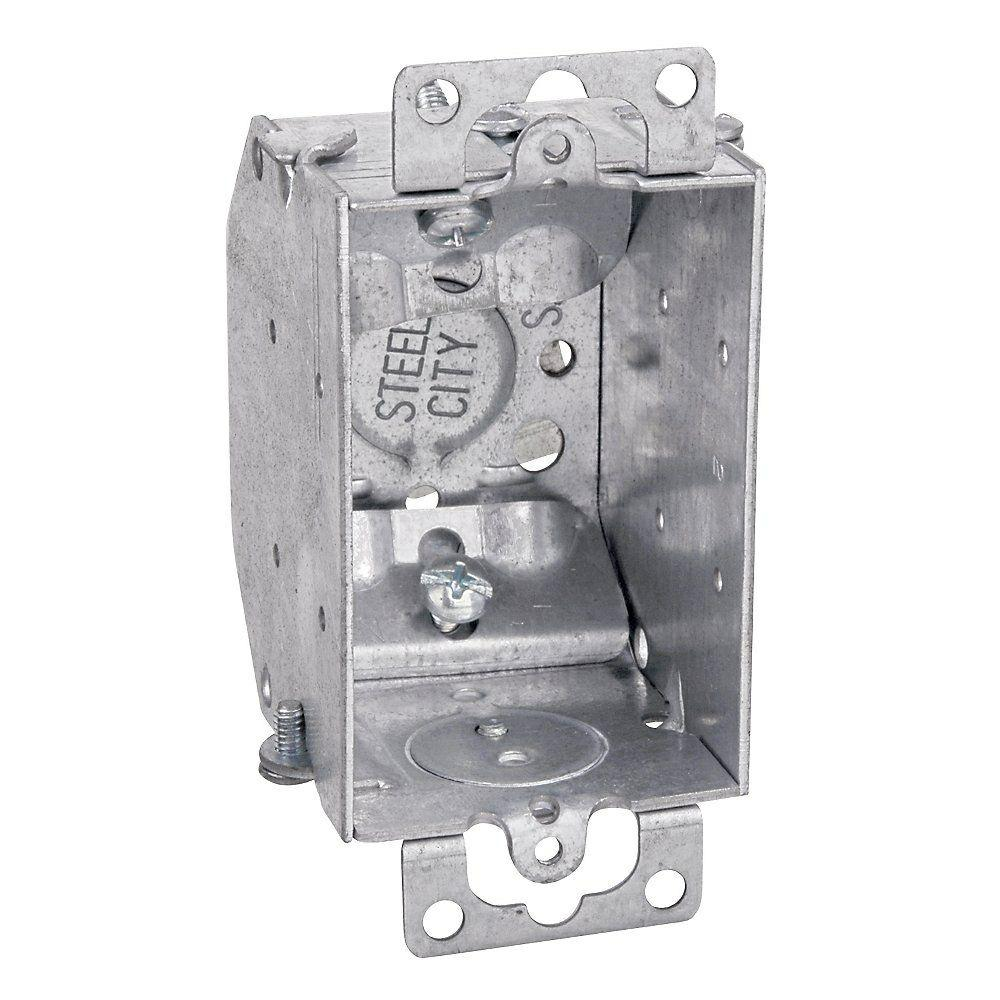 3 in. 10.5 cu. in. Steel Electrical Switch Box with NMSC