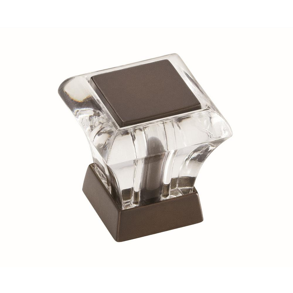 Abernathy 1-1/16 in. L (27 mm) Clear Caramel Bronze Cabinet Knob