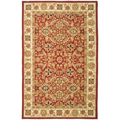 Chelsea Red/Ivory 6 ft. x 9 ft. Area Rug