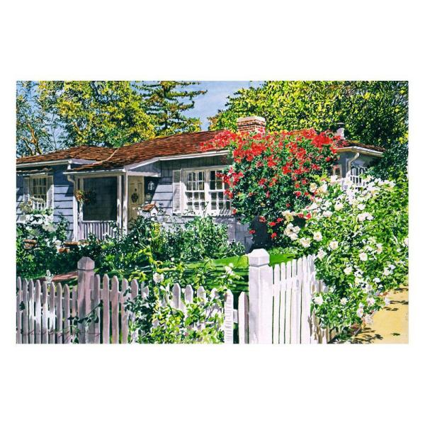Trademark Fine Art 22 in. x 32 in. Rose Cottage Canvas