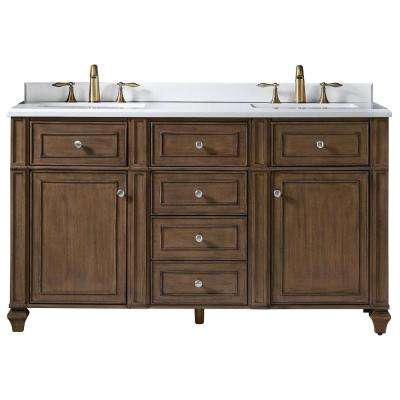 D In Washed Hazel With Marble Vanity