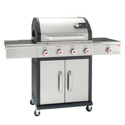 Precision Chef 5-Burner LP Gas Grill with Side Burner