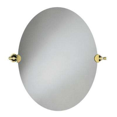 Revival 29 in. x 26 in. Single Wall Mirror in Vibrant Polished Brass