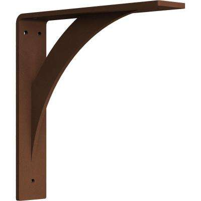 2 in. x 10 in. x 10 in. Steel Hammered Copper Legacy Bracket