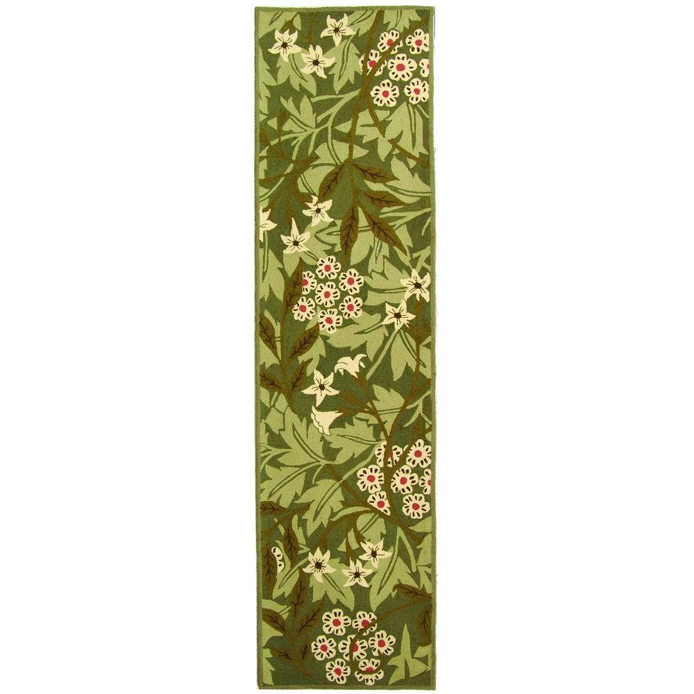 Chelsea Green/Ivory 3 ft. x 10 ft. Runner Rug