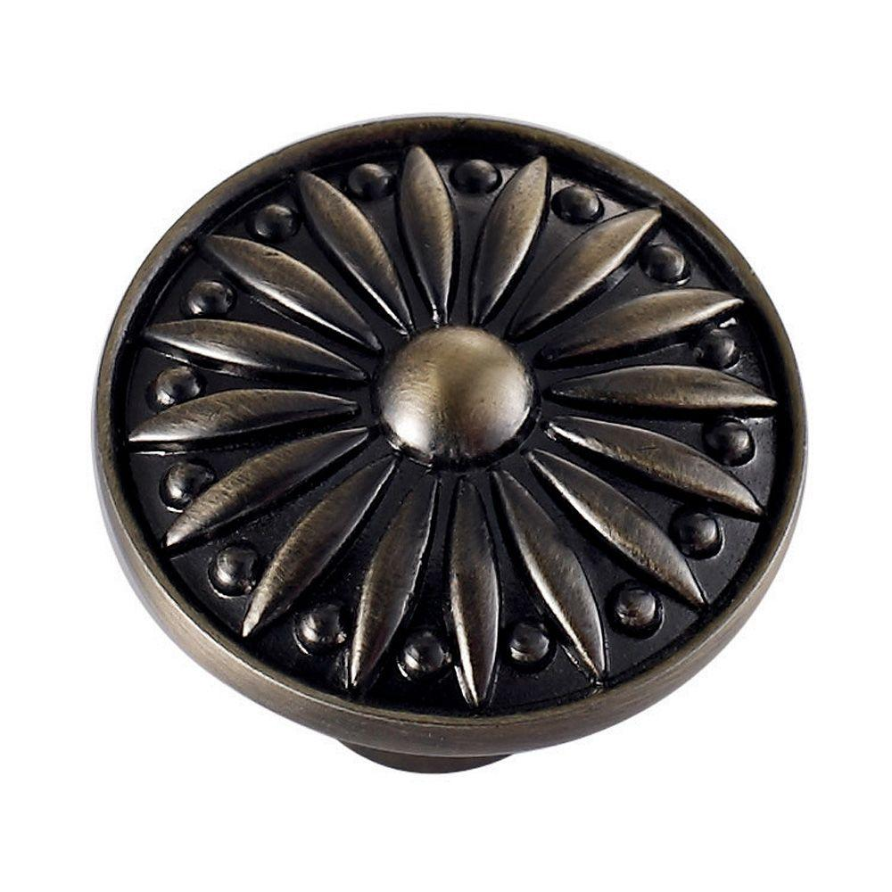 Vigo Sunflower 1-1/8 in. Pewter Cabinet Knob-DISCONTINUED