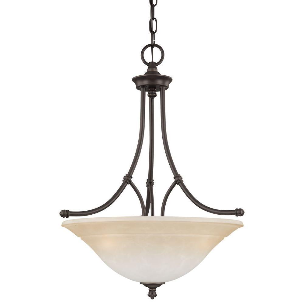 Harmony 3-Light Aged Bronze Pendant