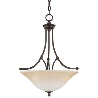 Harmony 3-Light Aged Bronze Pendant