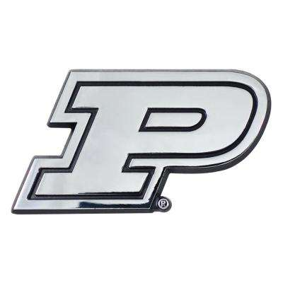 NCAA Purdue University 3 in. x 3.2 in. Chrome Emblem