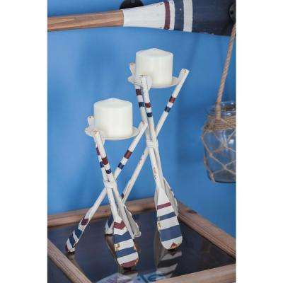 Coastal Living Metal Oar Candle Holders (Set of 2)